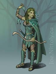 Imri, Wild Elf Ranger (Monster Hunter) by Pasiphilo