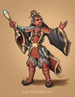 Gashuuryabek, Hobgobling Wizard (commission) by Pasiphilo