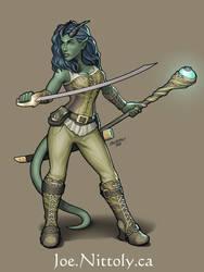 Ea, Tiefling Druid by Pasiphilo