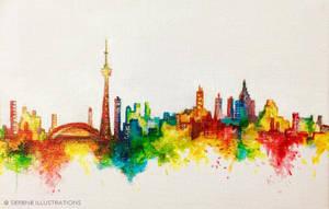 Toronto Skyline by SereneIllustrations