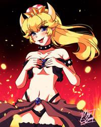 :Bowsette: by MeguBunnii