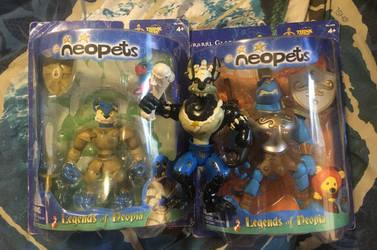Legends Of Neopia Figures by pinkcollector