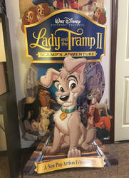 Lady and the tramp 2 - Standee by pinkcollector