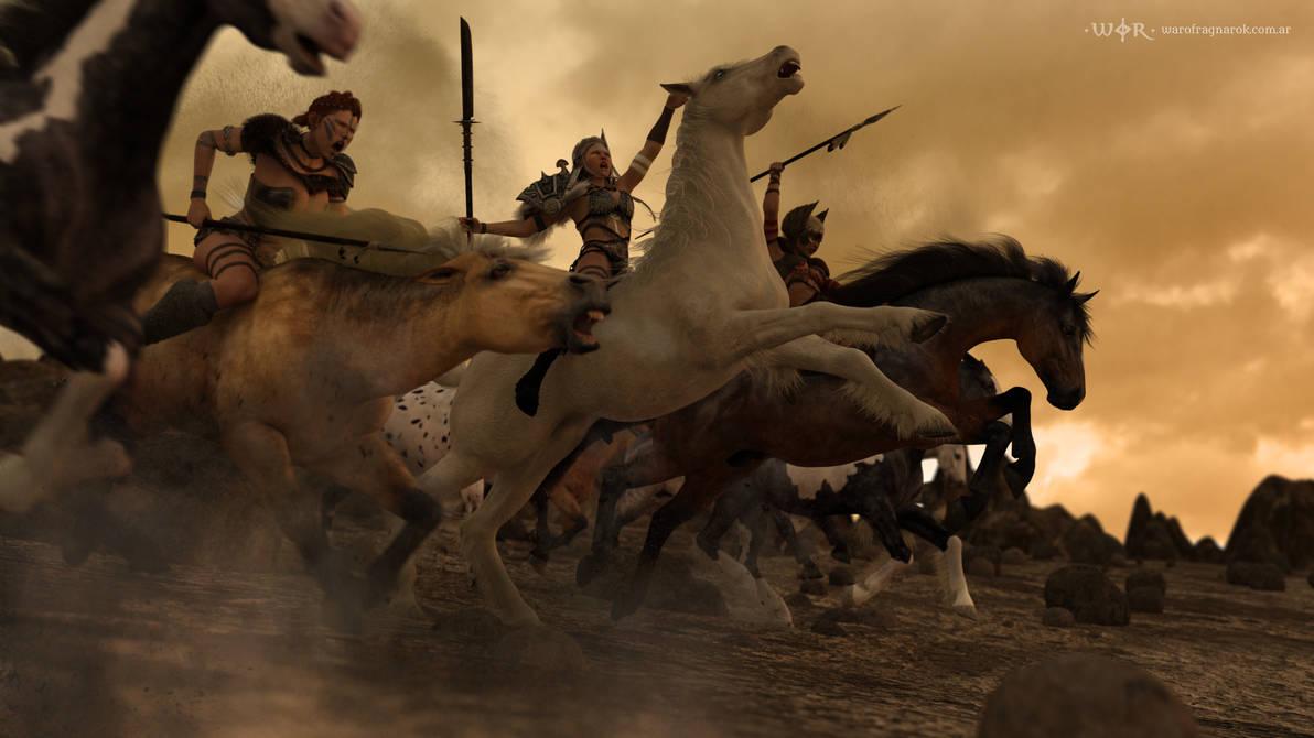 Ride of the Valkyries by warofragnarok