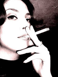smoking angel by seraphjordan