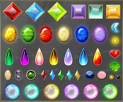 Gems 2 (downloadable stock) by Rittik-Designs