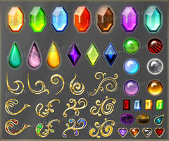 Gems 3 (downloadable stock) by Rittik-Designs