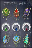 Jewelry Set 5 (CLOSED) by Rittik-Designs