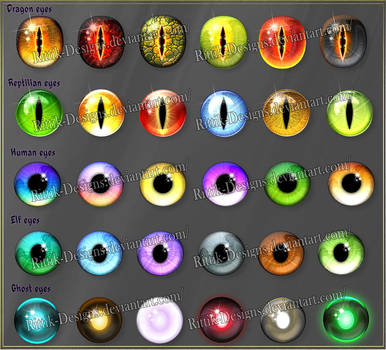 Fantasy eyes 1 (downloadable stock) by Rittik-Designs