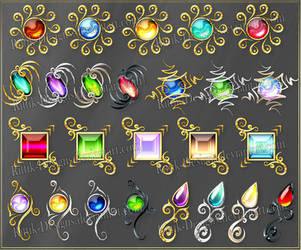 Gems 6 (downloadable stock) by Rittik-Designs