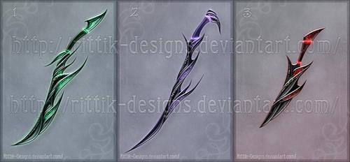Shadow assassin's swords (CLOSED) by Rittik-Designs