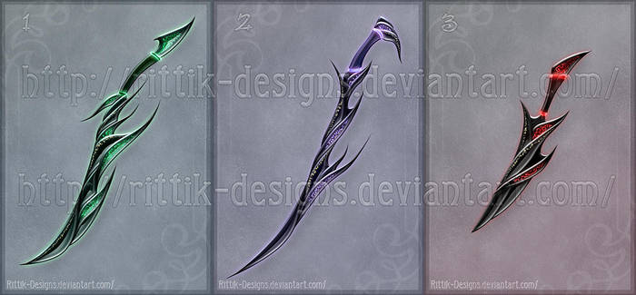 Shadow assassin's swords (CLOSED) by Rittik-Designs