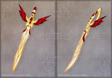 Flaming Bird Swords (CLOSED) by Rittik-Designs