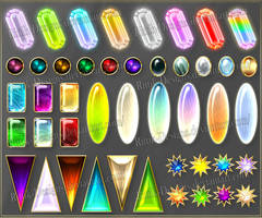 Gems 7 (downloadable stock) by Rittik-Designs