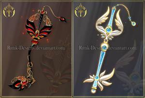 Keyblades adopts 4 (CLOSED) by Rittik-Designs