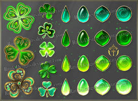 Colorful Gems - green (downloadable stock) by Rittik-Designs