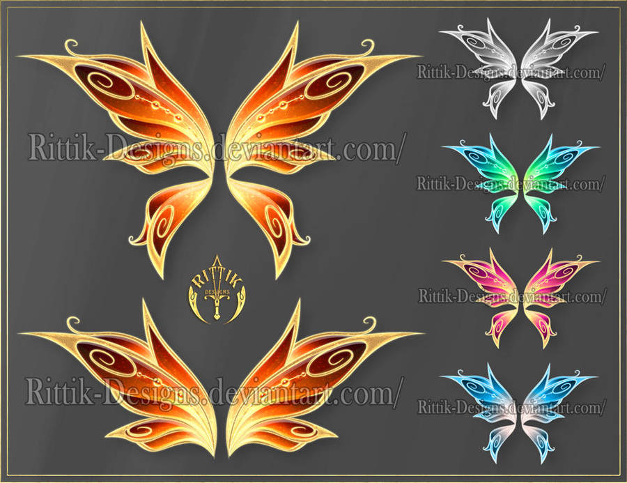 Wings 6 (downloadable stock) by Rittik-Designs