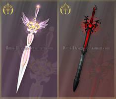 Swords adopts 24 (CLOSED) by Rittik-Designs