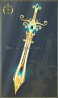 Goldenglow, sword adopt (CLOSED) by Rittik-Designs