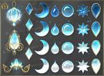 Colorful Gems - light blue (downloadable stock) by Rittik-Designs