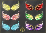 Bright wings 2 (downloadable stock) by Rittik-Designs