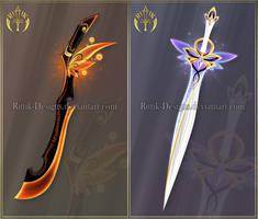 (CLOSED) Swords adopts 28 by Rittik-Designs