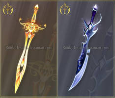 (CLOSED) Swords adopts 29 by Rittik-Designs