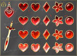 Colorful Gems - red (downloadable stock) by Rittik-Designs