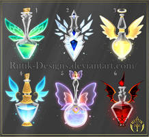 (CLOSED) Potion set 4 by Rittik-Designs