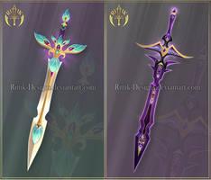(CLOSED) Swords adopts 30 by Rittik-Designs