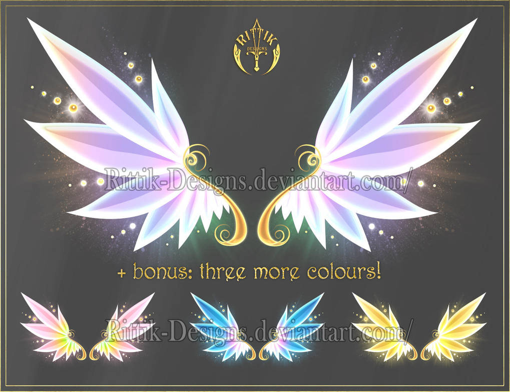 Wings 7 (downloadable stock) by Rittik-Designs