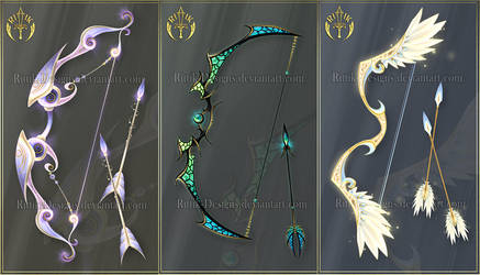 (CLOSED) Bows adopts 9 by Rittik-Designs