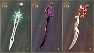 (CLOSED) Swords adopts 34 by Rittik-Designs