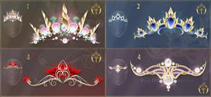(CLOSED) Diadems adopts 15 by Rittik-Designs