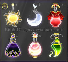 (CLOSED) Potion set 6 by Rittik-Designs