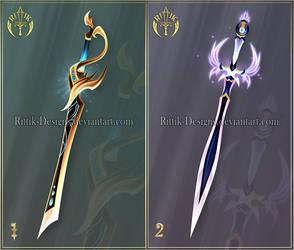 (CLOSED) Swords adopts 37 by Rittik-Designs
