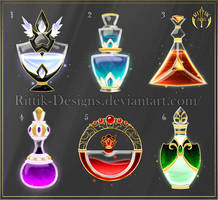(CLOSED) Potion set 8 by Rittik-Designs
