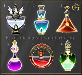 (CLOSED) Potion set 8 by Rittik-Designs