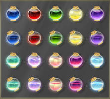Simple potions 1 (downloadable stock) by Rittik-Designs