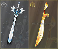 (CLOSED) Swords adopts 41 by Rittik-Designs