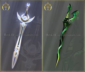 (OPEN) Swords adopts 43 - Auction by Rittik-Designs