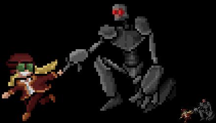 A Girl and Her Robot by lakan-inocencio