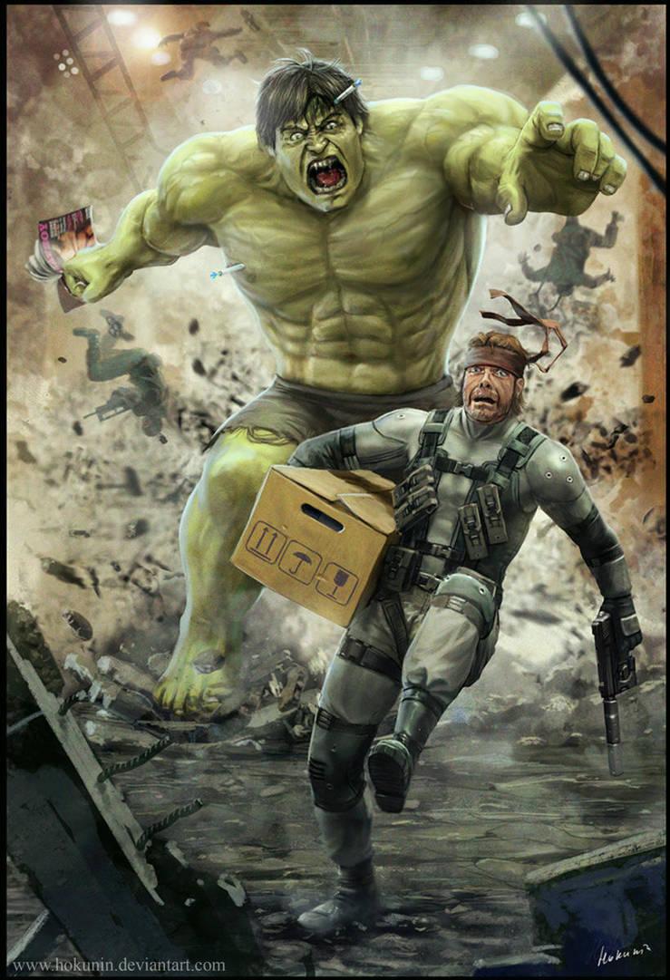 Solid Snake VS Hulk by Hokunin