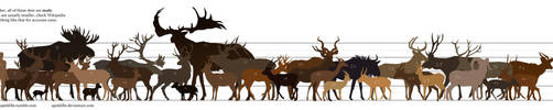 Ungulate size chart by apeldille