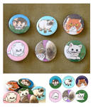 Funny Cats - Button Set 1 part 2 by artshell