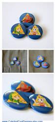 Zelda: Triforce Button Set by artshell