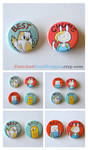 Fionna and Cake Buttons - Best Chums by artshell