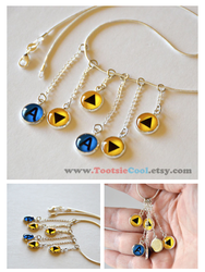 Legend of Zelda - OoT Song Dangle Necklace - Storm by artshell