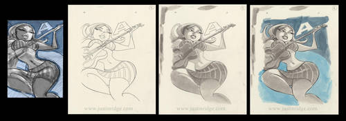 Jazz Girl 'A' by justinridge