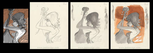 Jazz Girl 'Z' by justinridge